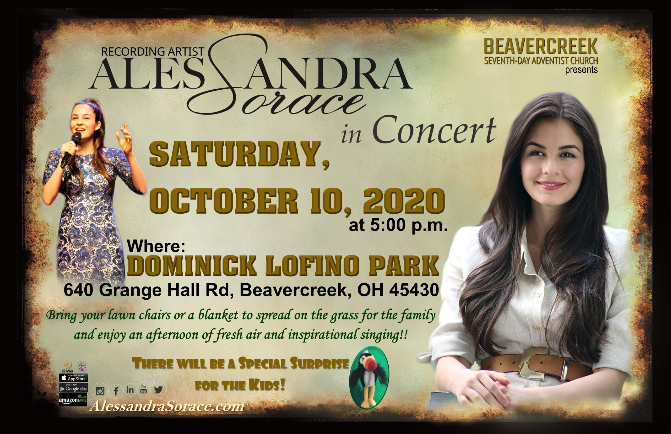 Free Outdoor Concert with Alessandra Sorace