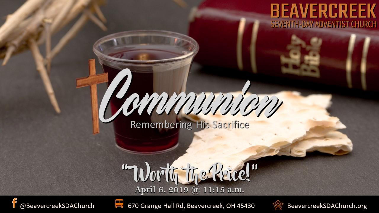 Communion Sabbath – Worth the Price