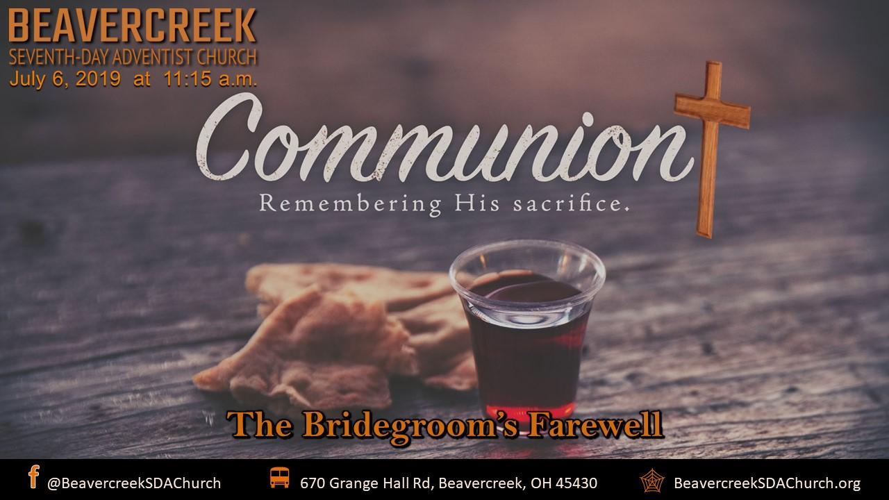 The Bridegroom's Farewell – Communion Service