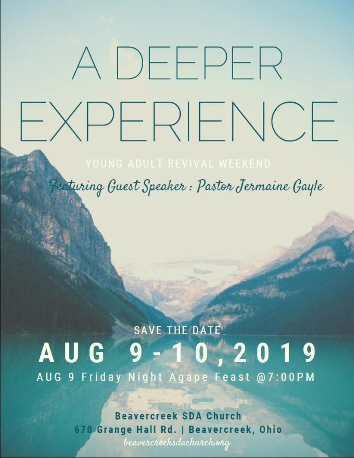 A Deeper Experience – Guest Speaker Jermaine Gayle