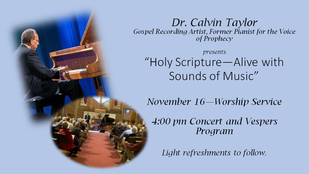 Holy Scripture ~ Alive With Sounds of Music