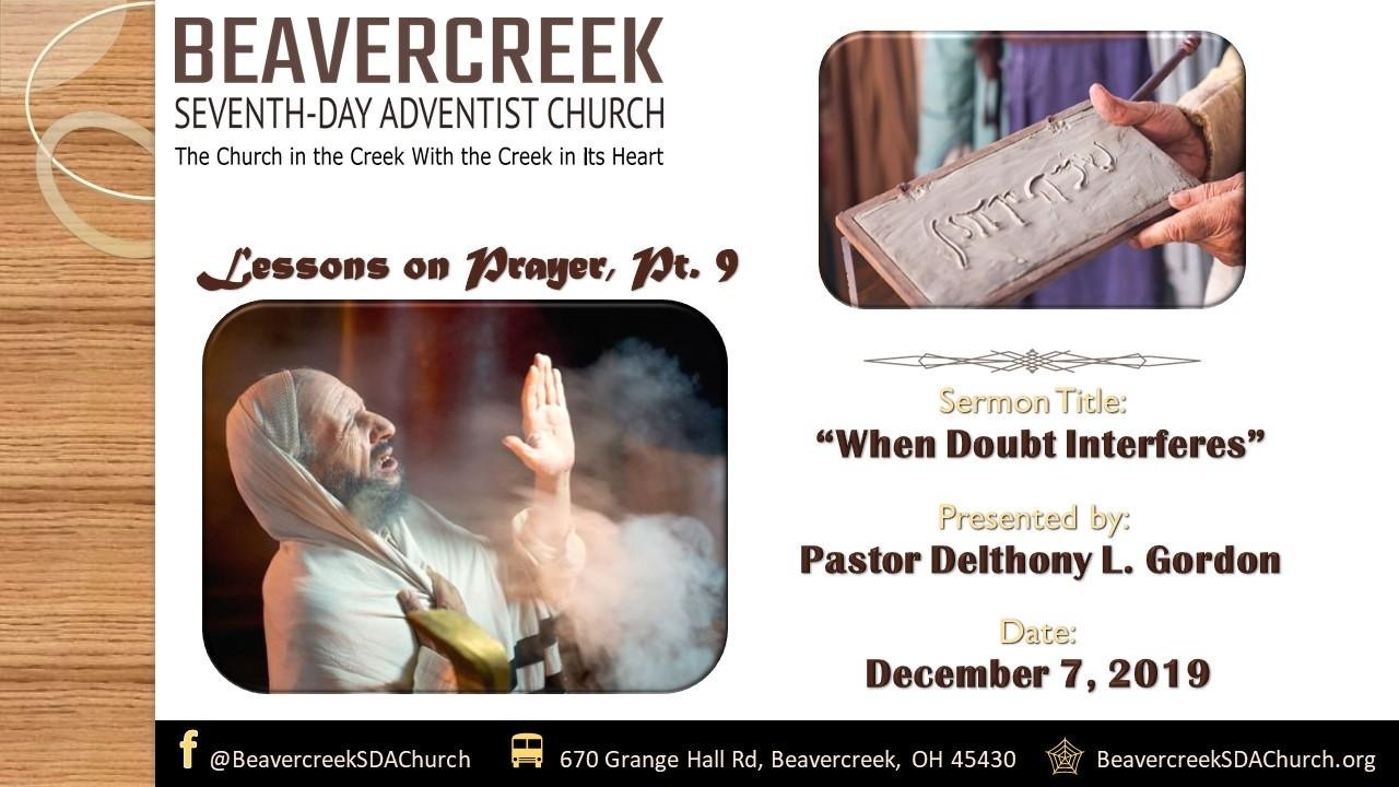 Lessons on Prayer Part 9: When Doubt Interferes