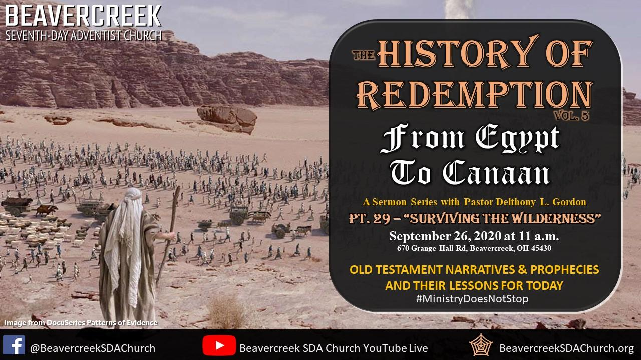 """Part 29 – """"Surviving the Wilderness"""" – From Egypt to Canaan"""