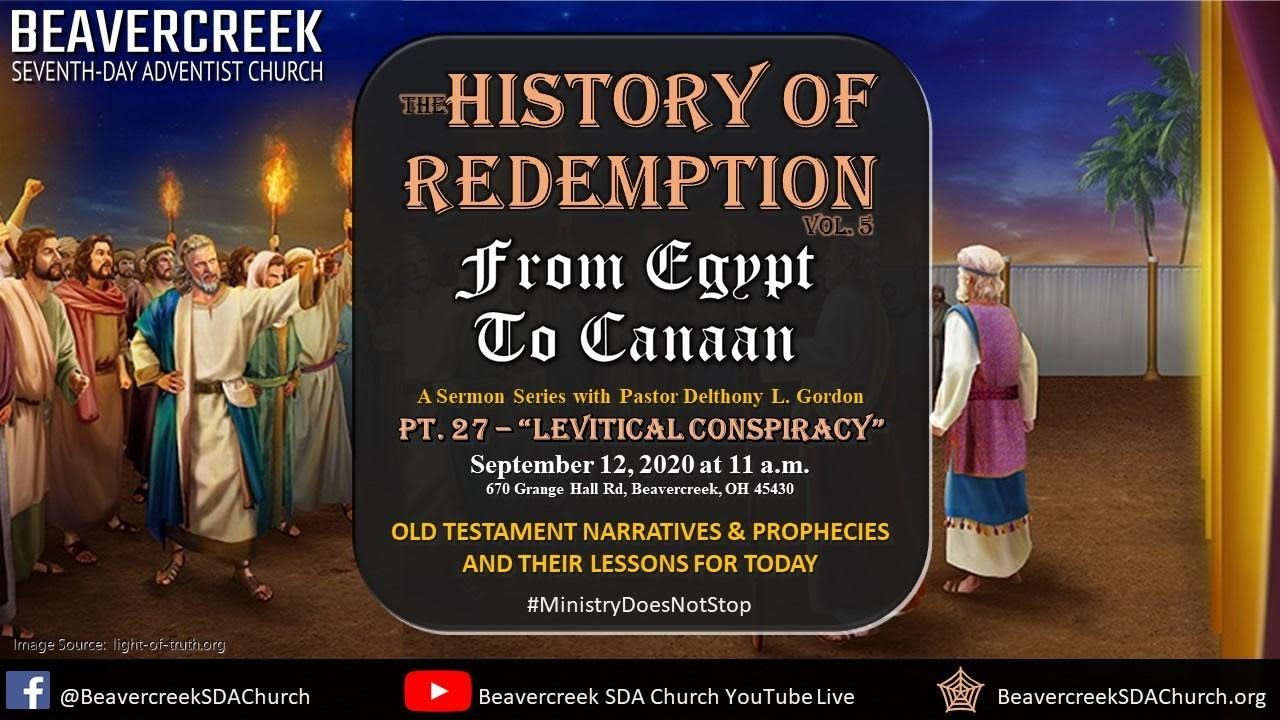 """Part 27 – """"Levitical Conspiracy"""" – From Egypt to Canaan"""