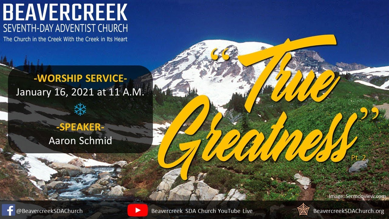 """Guest Speaker Aaron Schmid – """"True Greatness"""""""